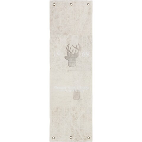 """Hand-Crafted Devizes Animal Indoor Cotton Area Rug - 2'6"""" x 8' Runner"""