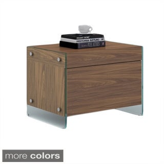IL VETRO Collection Veneer Nightstand/ End Table by Casabianca Home