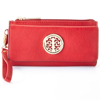MKF Collection Tri-fold Medallion Wristlet