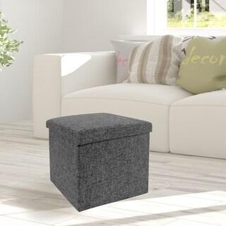 Seville Foldable Storage Cube Ottoman