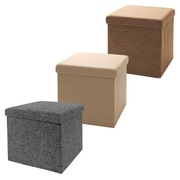 Seville Foldable Storage Cube Ottoman  sc 1 st  Overstock.com & Seville Foldable Storage Cube Ottoman - Free Shipping On Orders ... islam-shia.org