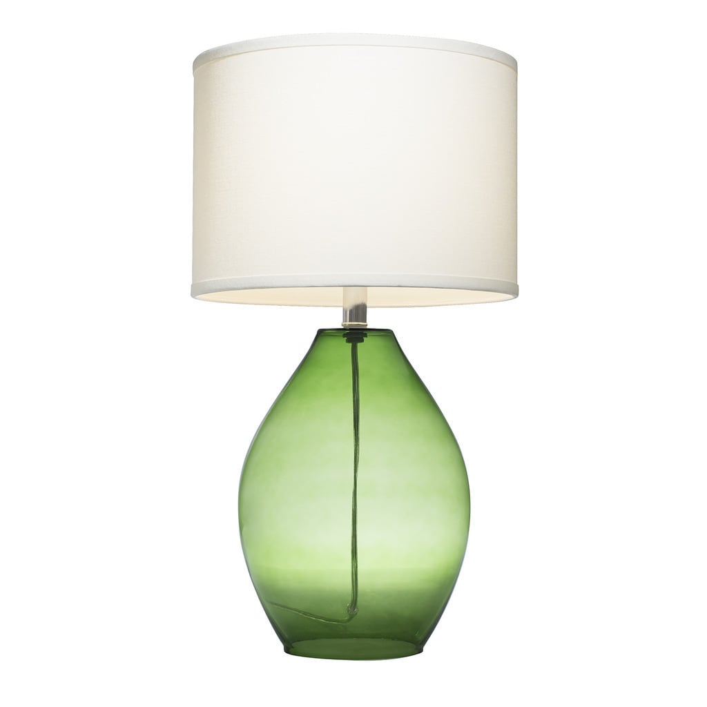 Shop Palm Canyon Sunflower 1 Light Green Glass Table Lamp Free