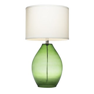 Palm Canyon Sunflower 1-light Green Glass Table Lamp