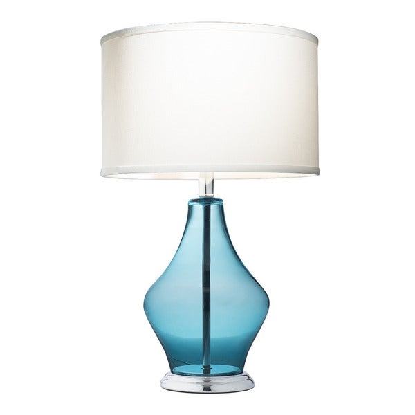 kichler lighting 1 light light blue glass table lamp free shipping. Black Bedroom Furniture Sets. Home Design Ideas