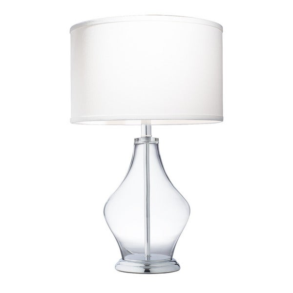 Shop Kichler Lighting 1 Light Clear Glass Table Lamp On