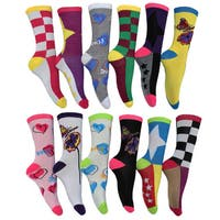 Women's Fun and Colorful Crew Socks (Pack of 12 pairs)
