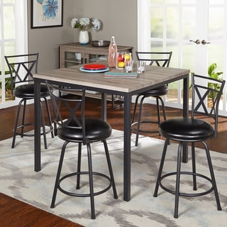 Simple Living 5-piece Seneca Counter Height Set