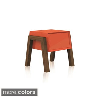 FIGO Collection High Gloss Lacquer Mid-century Style Nightstand/ End Table by Casabianca Home