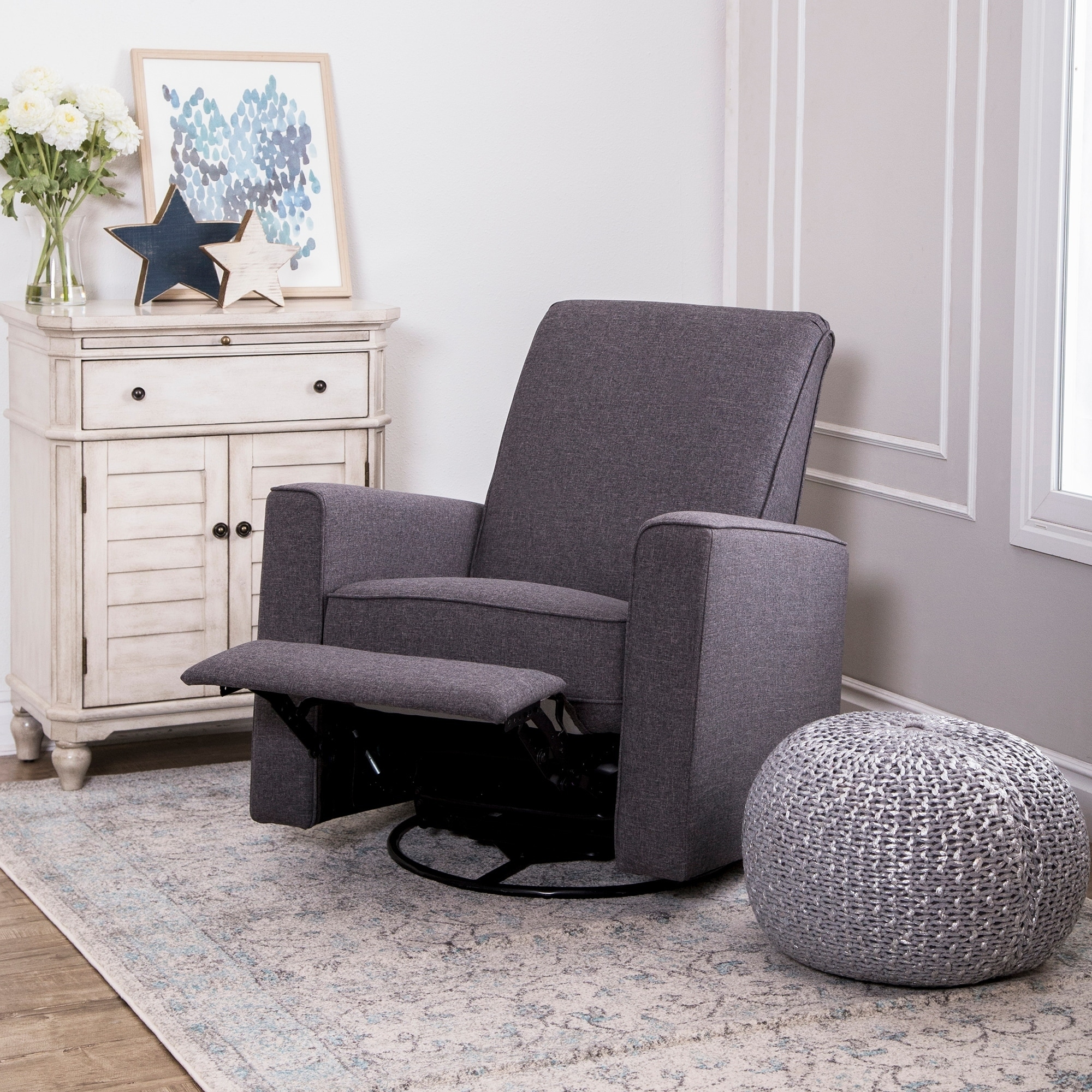Nursery Glider Recliner With Ottoman Thenurseries