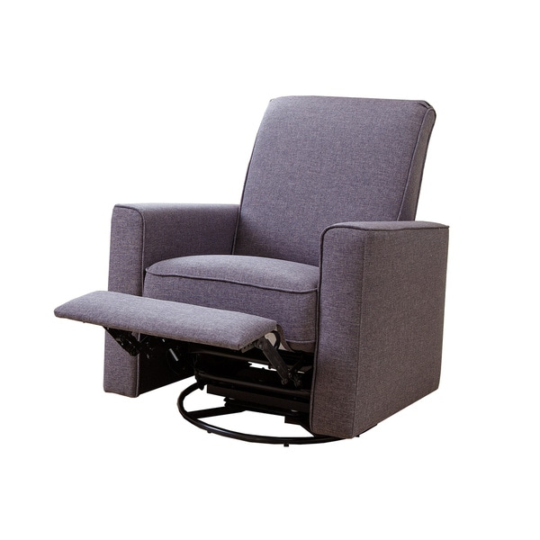 Abbyson H&ton Grey Nursery Swivel Glider Recliner Chair - Free Shipping Today - Overstock.com - 17516392  sc 1 st  Overstock.com : reclining chair bed - islam-shia.org