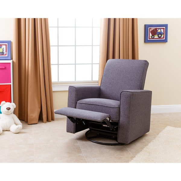 Abbyson H&ton Grey Nursery Swivel Glider Recliner Chair - Free Shipping Today - Overstock.com - 17516392  sc 1 st  Overstock.com & Abbyson Hampton Grey Nursery Swivel Glider Recliner Chair - Free ... islam-shia.org