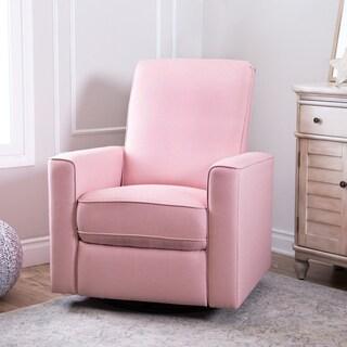 Abbyson Hampton Grey Nursery Swivel Glider Recliner Chair