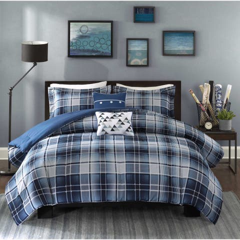 Intelligent Design Dexter Blue Comforter Set