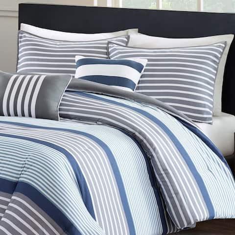 Intelligent Design Matteo 5-piece Blue Comforter Set