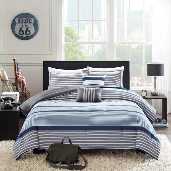 Intelligent Design Matteo 5 Piece Blue Comforter Set On Sale Overstock 10416561