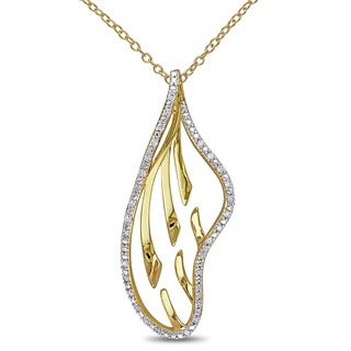 Miadora Sterling Silver Two Tone Diamond Necklace