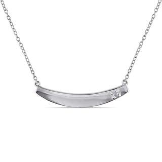 Miadora Sterling Silver Diamond Accent Bar Necklace