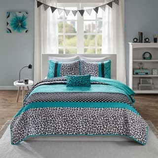 Mi Zone Camille Teal Pieced Animal Print Coverlet Set|https://ak1.ostkcdn.com/images/products/10416581/P17516414.jpg?impolicy=medium