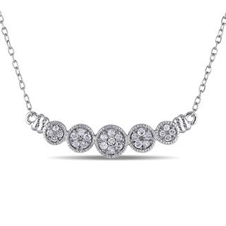 Miadora Sterling Silver 1/4ct TDW Diamond Necklace (G-H, I2-I3)