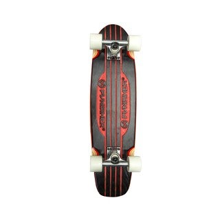 Punisher Skateboards Special Edition Engraved 28-inch Red Longboard