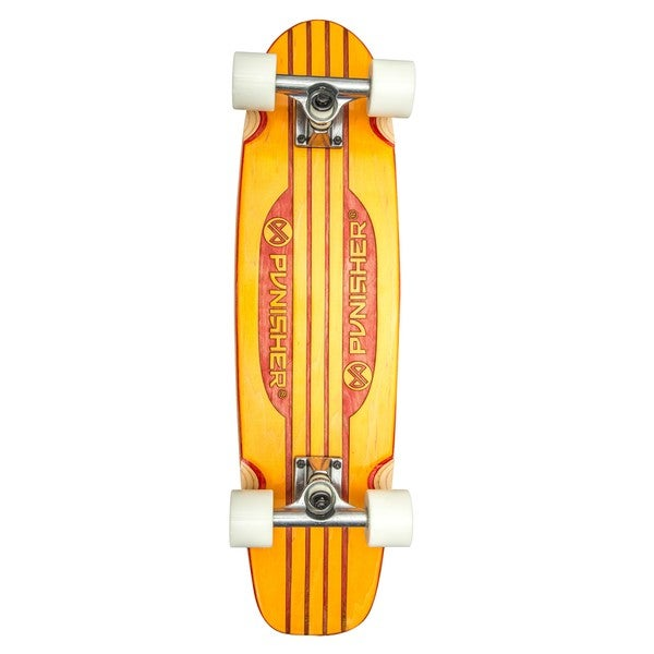 Punisher Skateboards Special Edition Engraved 28-inch Orange Longboard