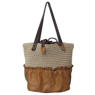 Amerileather Multi-fabric Ardin Tote Bag