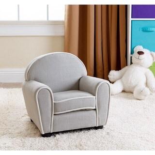 Abbyson Larsa Baby Grey Linen Armchair