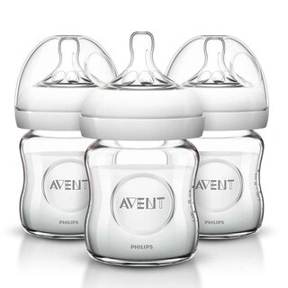Philips Avent Natural 4-ounce Glass Bottle (Pack of 3)