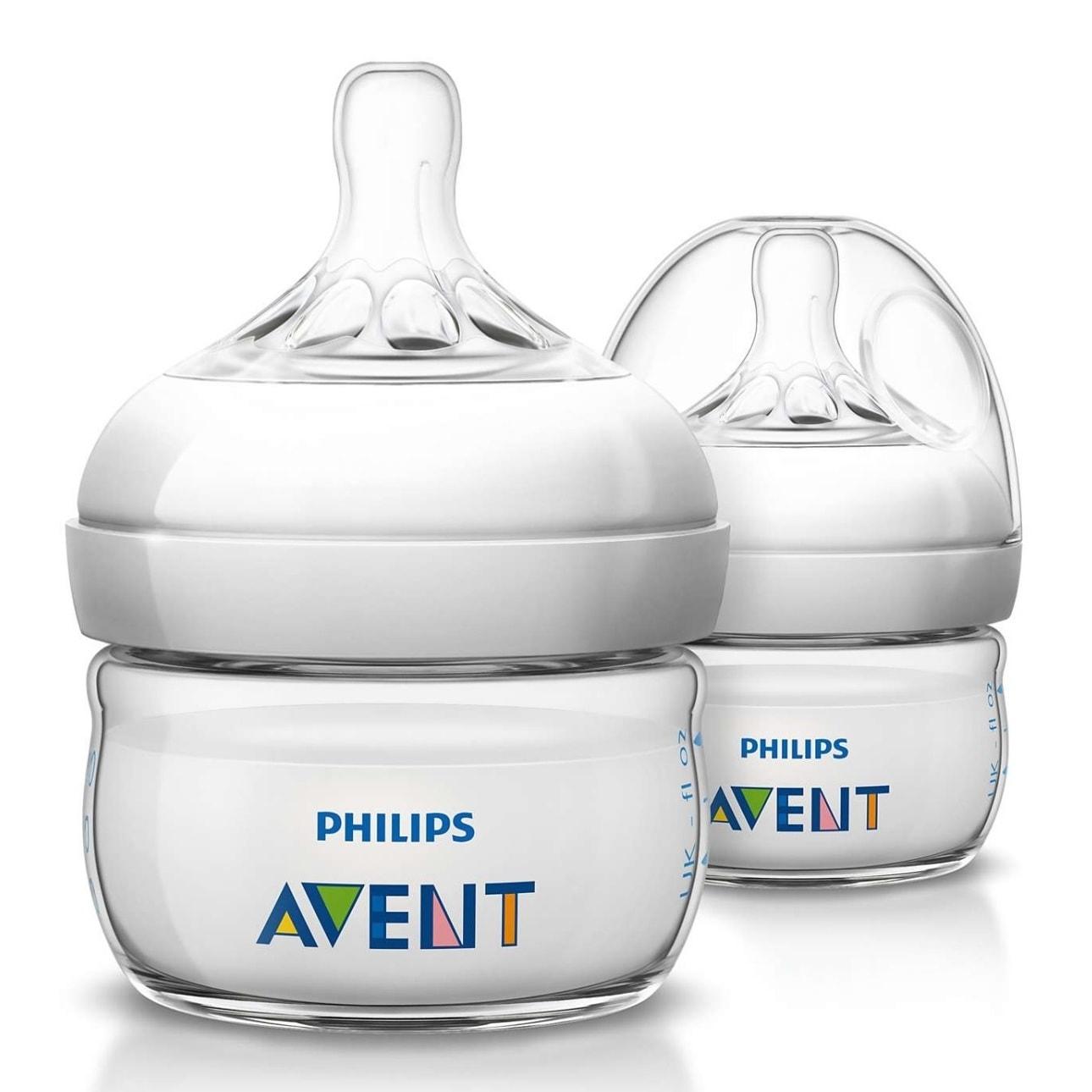 Philips Avent Natural 2-ounce Polypropylene Bottle (Pack ...