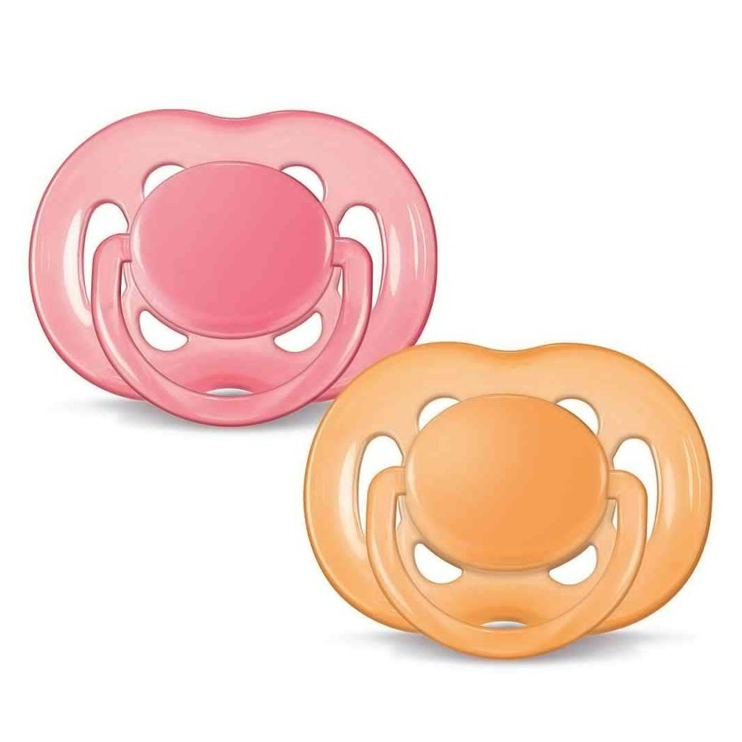 Philips Avent Contemporary Freeflow 6 to 18 Months Pacifier (Pack of 2) (Pink)