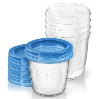 Philips Avent Breastmilk 6-ounce Storage Cups (Pack of 5)