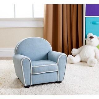 Abbyson Kids Larsa Baby Blue Linen Armchair