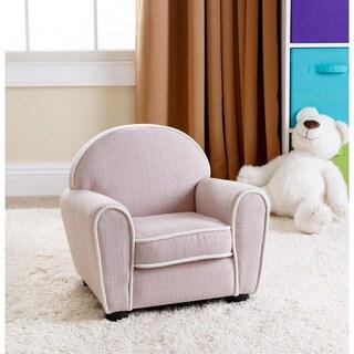 Abbyson Kids Larsa Baby Pink Linen Armchair