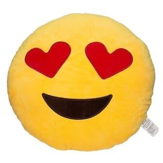 Emoji Heart Eyes Yellow Round Plush Pillow|https://ak1.ostkcdn.com/images/products/10416750/P17516658.jpg?impolicy=medium