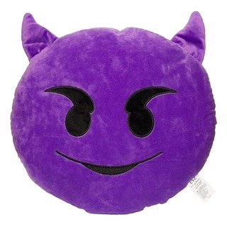 Emoji Purple Devil Emoticon Plush Pillow