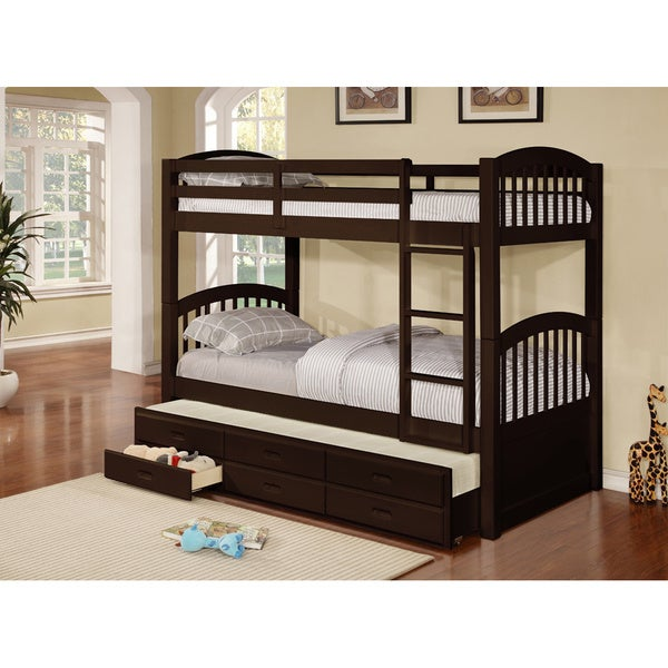 Shop Cameron Twin Over Twin Bunk Bed with Trundle and Drawers