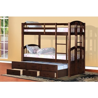 Cameron Twin Over Twin Bunk Bed with Trundle and Drawers