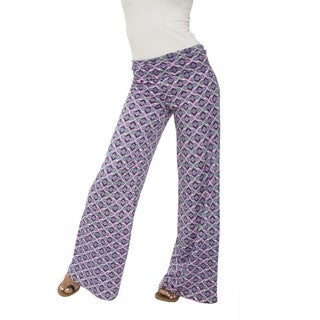 White Mark Women's Palazzo Metrix Pants
