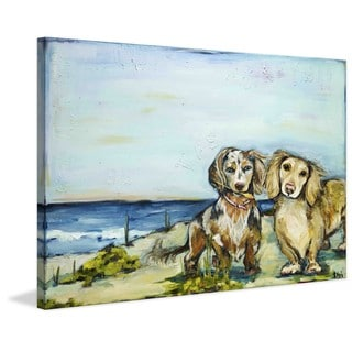 "Marmont Hill - ""Beautiful Dachshunds"" by Tori Campisi Painting Print on Canvas"