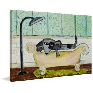"""Marmont Hill - """"Dog Bath"""" by Tori Campisi Painting Print on Canvas"""