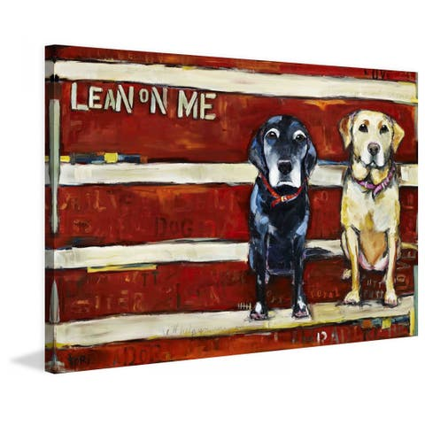 Marmont Hill - Handmade Lean on Me Painting Print on Canvas