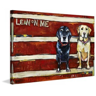 "Marmont Hill - ""Lean on Me"" by Tori Campisi Painting Print on Canvas"