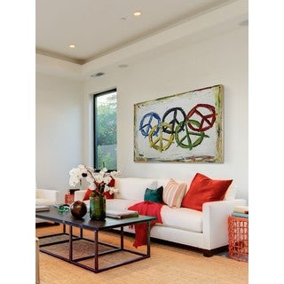 """Marmont Hill - """"Dream Big"""" by Tori Campisi Painting Print on Canvas"""