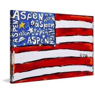 "Marmont Hill - ""Aspen Flag"" by Tori Campisi Painting Print on Canvas"
