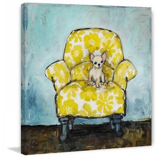 "Marmont Hill - ""Dog Allowed In"" by Tori Campisi Painting Print on Canvas (5 options available)"