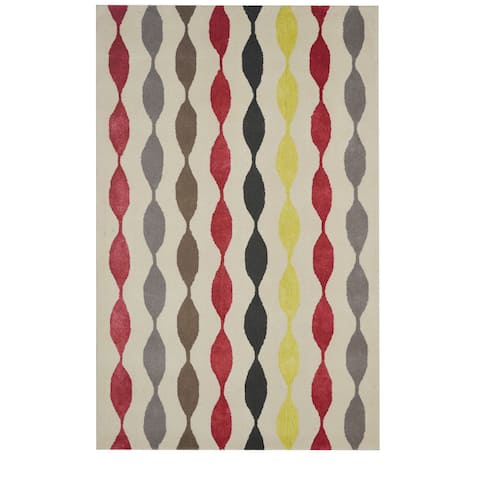 """Rizzy Home Gillespie Avenue Hand-Tufted New Zealand Wool Runner Rug (2' 6' x 8"""")"""