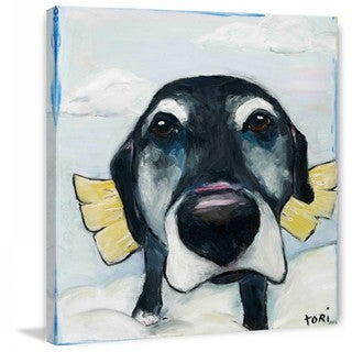 """Marmont Hill - """"All Good Dogs"""" by Tori Campisi Painting Print on Canvas - Multi-color"""
