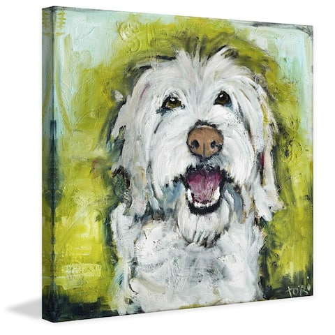 Marmont Hill - Handmade Smiley Dog Painting Print on Canvas