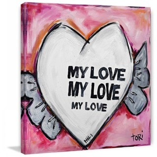 "Marmont Hill - ""My Love"" by Tori Campisi Painting Print on Canvas"