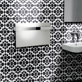 Affos Black and White Handmade Moroccan 8 x 8 inch Cement and Granite Floor or Wall Tile (Case of 12)